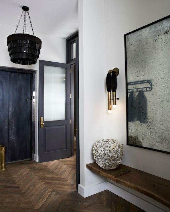 Foyer Floor Mirror : Floor to ceiling foyer mirror transitional entrance