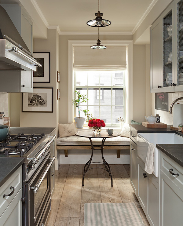 Galley Country Kitchen country galley kitchen - country - kitchen - jenny wolf interiors