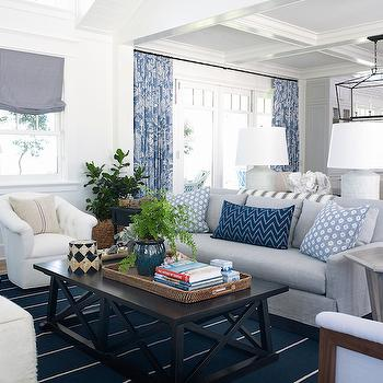 Coastal Living Rooms, Cottage, living room, Pratt and Lambert Designer White, Coastal Living
