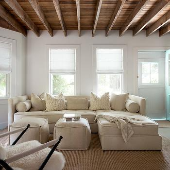 Tufted Sectional, Cottage, living room, Jenny Wolf Interiors