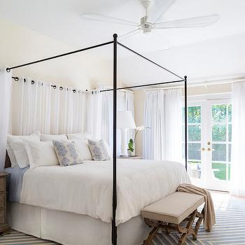 Canopy Bed Curtains & Iron Canopy Bed Drapes Design Ideas