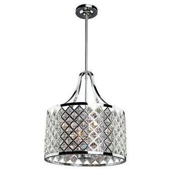 Artcraft Lattice 3 Light Chandelier in Chrome I Homeclick