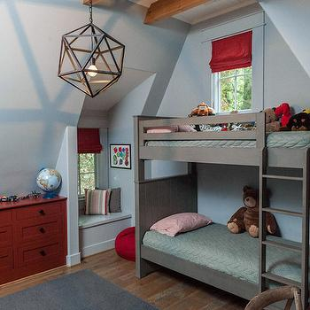 Gray Bunk Beds, Transitional, boy's room, Christopher Architects