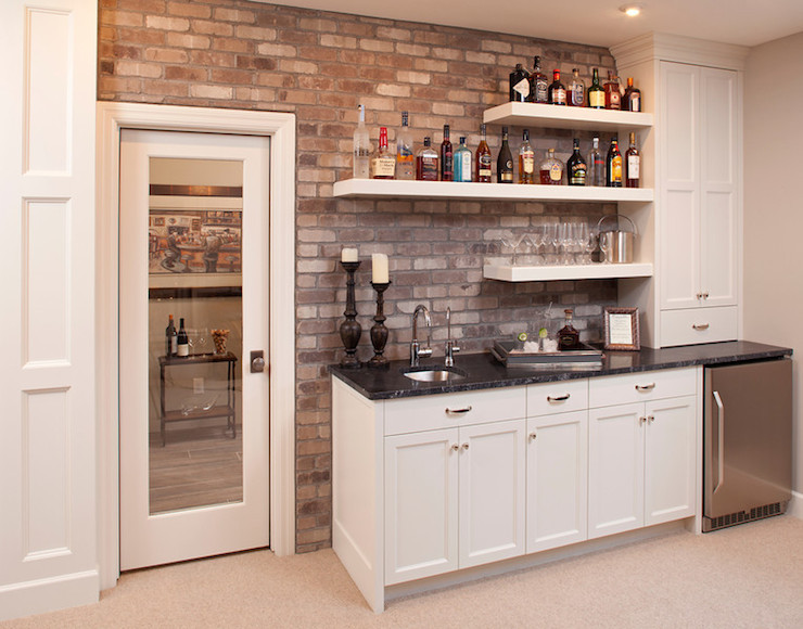 Basement Wet Bar Transitional Den Library Office Studio M Rh Decorpad Com