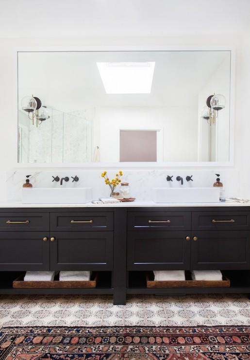 Black Dual Vanity Sink