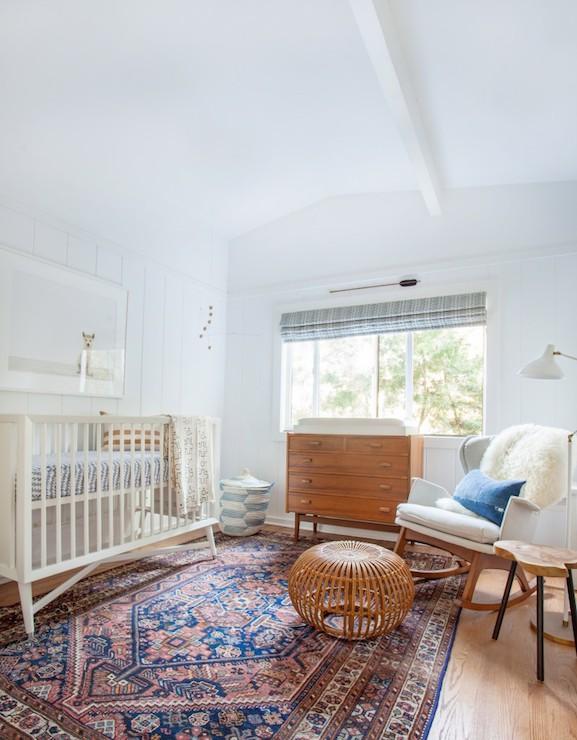 Mid Century Modern Crib Vintage Nursery Amber Interiors