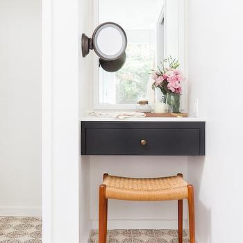 Vanity Nook, Eclectic, bathroom, Amber Interiors