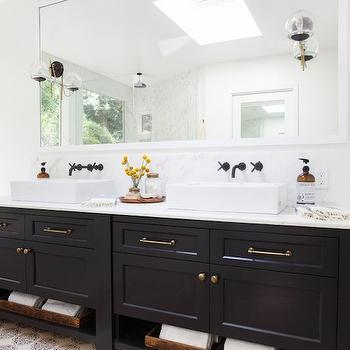Ebony Double Vanity, Eclectic, bathroom, Amber Interiors