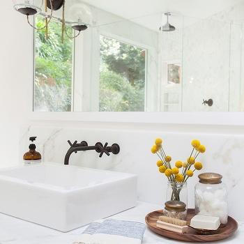 Bathroom Swing Arm Sconces Transitional Bathroom