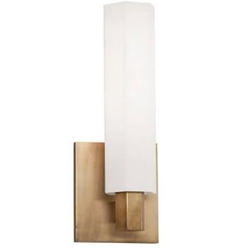 nyack 1 light aged brass wall sconce