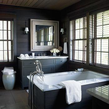 Pine Paneled Bathrooms, Country, bathroom, House Beautiful