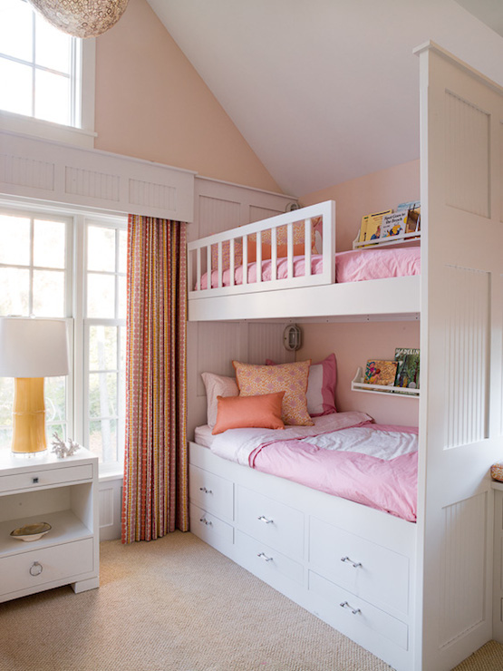 Bunk Bed Storage & Bunk Bed Storage - Transitional - girlu0027s room - Liz Levin Interiors