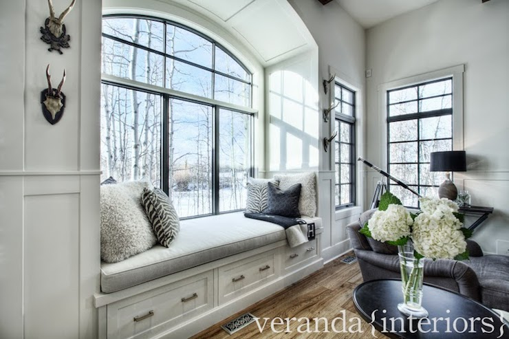 Preferred Arched Window Seat Nook - Transitional - living room - Veranda  AZ74