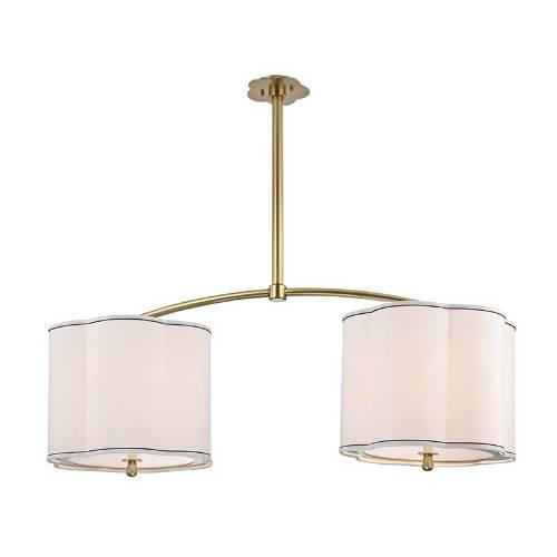 Hudson Valley Lighting Humphrey: Visual Comfort Silver Double Shade Pendant