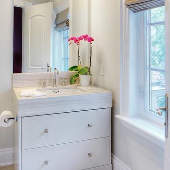 Gray Painted Vanity, Transitional, bathroom, Benjamin Moore Edgecomb Gray, Braams Custom Cabinets