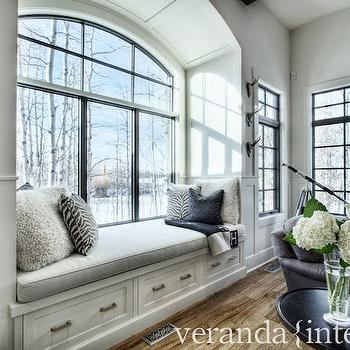Wonderful Veranda Interiors · Arched Window Seat Nook