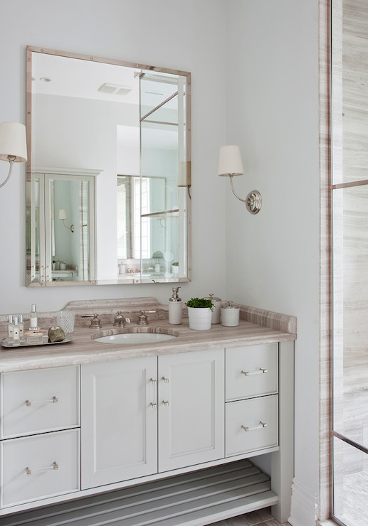Washstand With Vessel Sink Transitional Bathroom