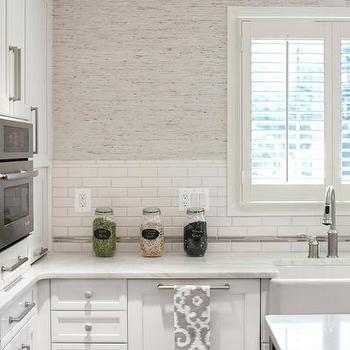 Grasscloth Wallpaper Kitchen Backsplash Design Ideas