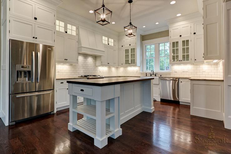 View Full Size Beautiful Kitchen Features Shaker Cabinets Adorned With Oil Rubbed Bronze