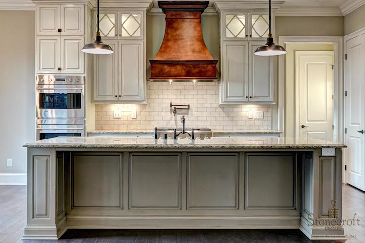 Copper Range Hood Transitional Kitchen Stonecroft Homes