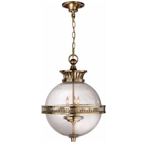 Visual comfort alderly 3 light brass globe pendant aloadofball Choice Image