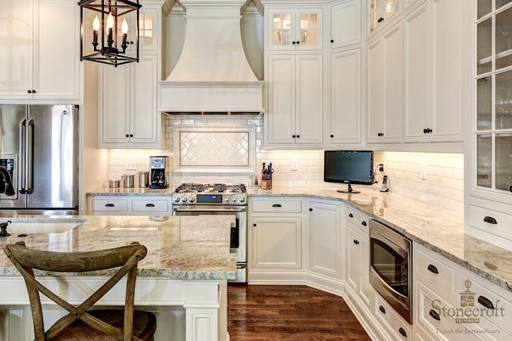 ivory kitchen cabinets - transitional - kitchen - stonecroft homes
