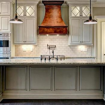 French Copper Hood Transitional Kitchen Stonecroft Homes
