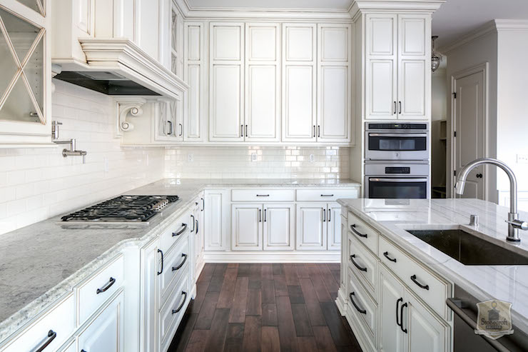 Glazed Cabinets View Full Size Stunning Kitchen Features Glazed White