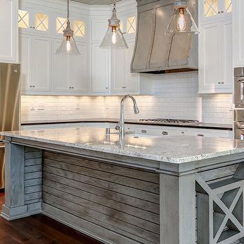 River White Granite Countertops Transitional Kitchen