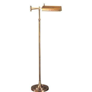 Brass pharmacy floor lamp visual comfort chart house 1 light dorchester swing arm pharmacy brass floor lamp mozeypictures Choice Image