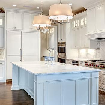Six Light Square Tube Chandelier, Transitional, kitchen, Stonecroft Homes
