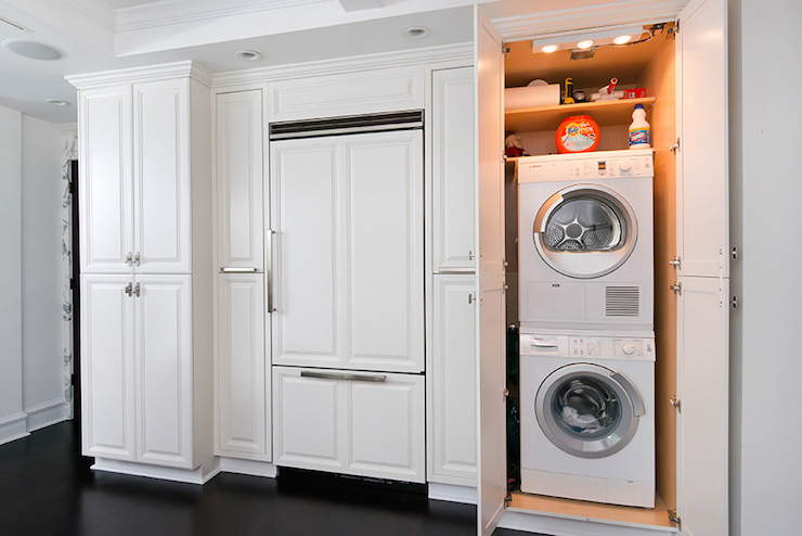Compact Washer Dryer Combo Stackable Hidden Washer And Dryer Design Ideas