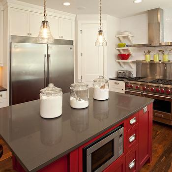 Silver Lake Quartz, Transitional, kitchen, Benjamin Moore Caliente, Refined LLC