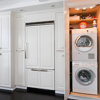 Hidden Washer and Dryer, kitchen, Dresner Design