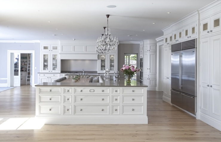 U Shaped Kitchen Island - Transitional - kitchen - Hayburn and Co