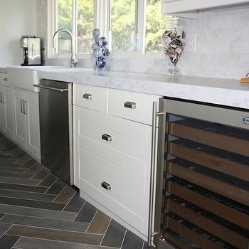 Slate Herringbone Tiles, Transitional, kitchen, Design Serendipity Interiors