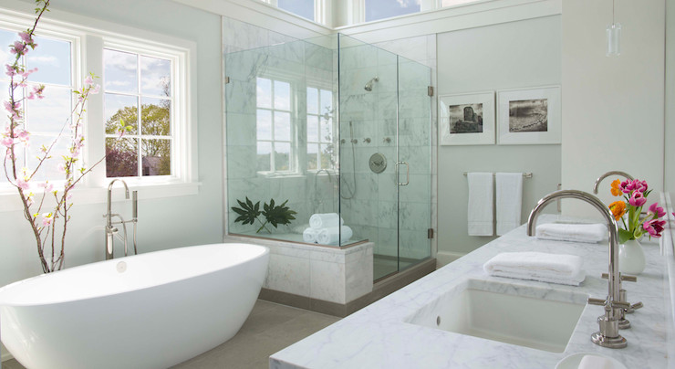 Spa Like Bathroom Transitional Bedroom Milton