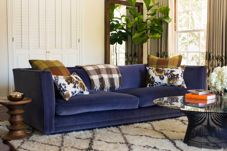 blue velvet sofa for sale dark uk contemporary living room marks chesterfield