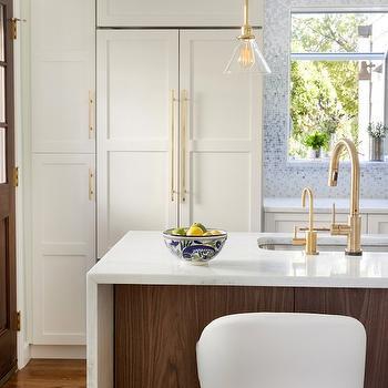Schoolhouse Electric Satellite Light, Contemporary, kitchen, Benjamin Moore Snowfall, Design Manifest