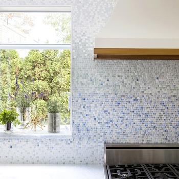 New Ravenna Metamorphosis Mist Tiles, Contemporary, kitchen, Benjamin Moore Snowfall, Design Manifest