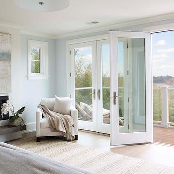 Bedroom Glass Balcony Doors Design Ideas
