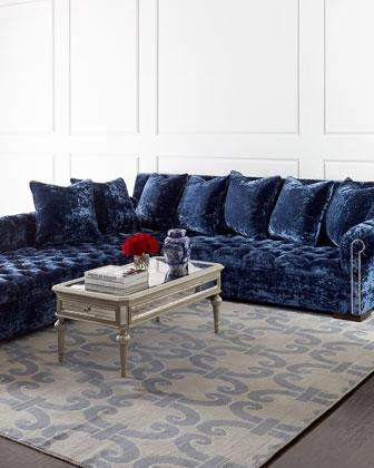 Haute House Divine Blue Sectional Sofa