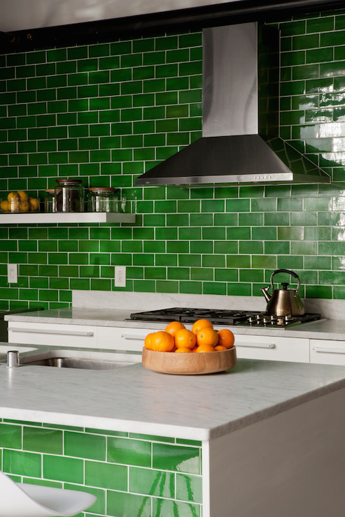 Charmant Green Kitchens
