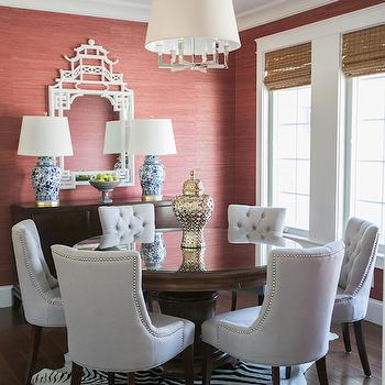 White Pagoda Mirror, Transitional, dining room, Jessie D Miller