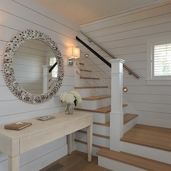 Step Lights, Cottage, entrance/foyer, Donna Elle Interior Design