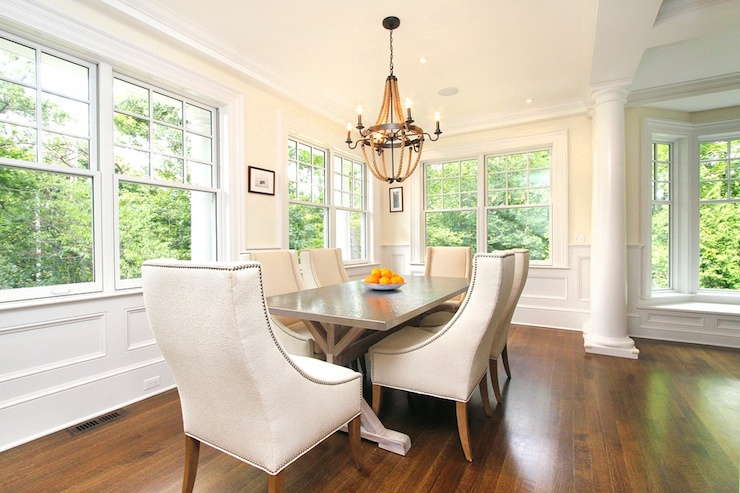 View Full Size. Elegant Dining Room Features Wainscoting ...