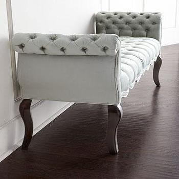 ottoman chic padded velvet tufted with settee storage bench
