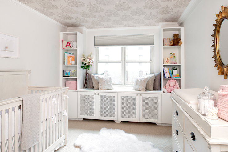 Window Seat In Nursery Transitional Nursery Ae Design