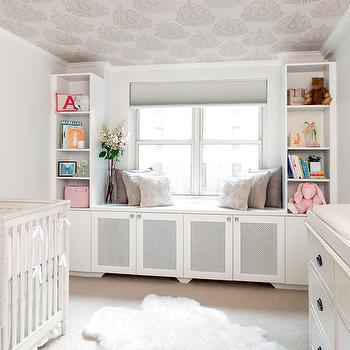 Nursery Window Seat, Transitional, nursery, AE Design
