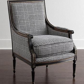Superbe Massoud Huntington Black And White Chair